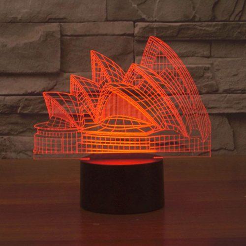 Sydney Opera House 3d led lamp 5