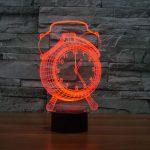 Red Alarm Clock 3d led lamp