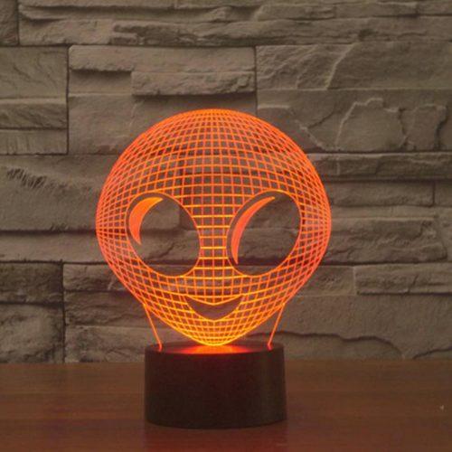 Cute Alien 3d led lamp 5