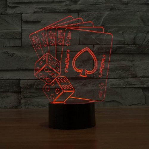 Red Card 3d led lamp