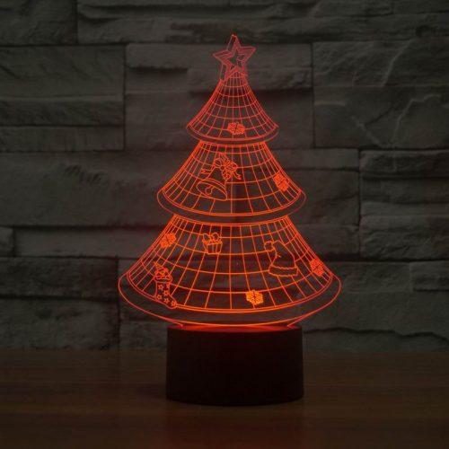 Christmas Tree 3d led lamp 4