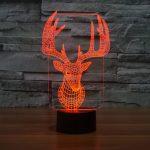 Reindeer 3d led lamp 4