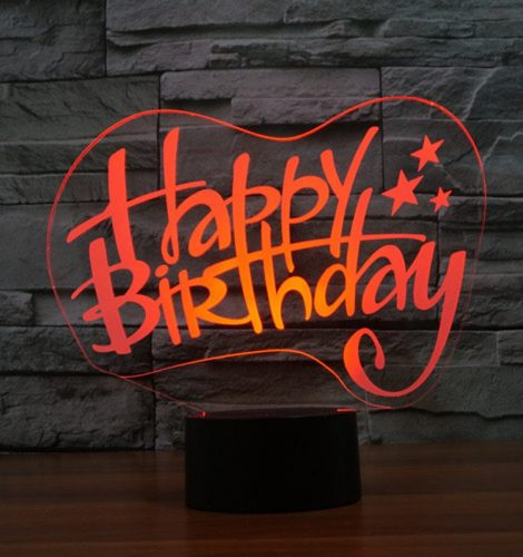 Happy Birthday 3d led lamp 5
