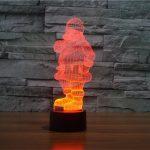 Santa 3d led lamp 4
