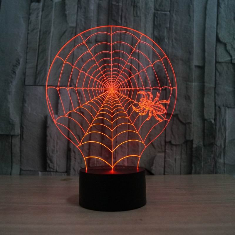 Spider Web 3d led lamp