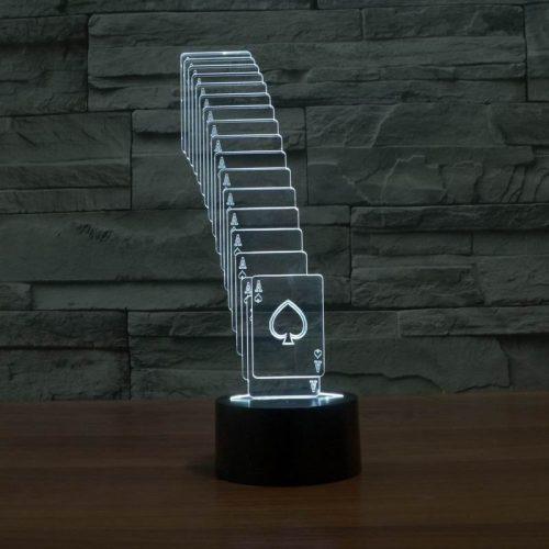 White Cards 3d led lamp