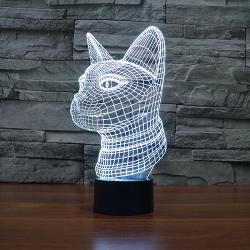 Cat 3d led lamp