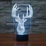 Reindeer 3d led lamp 5