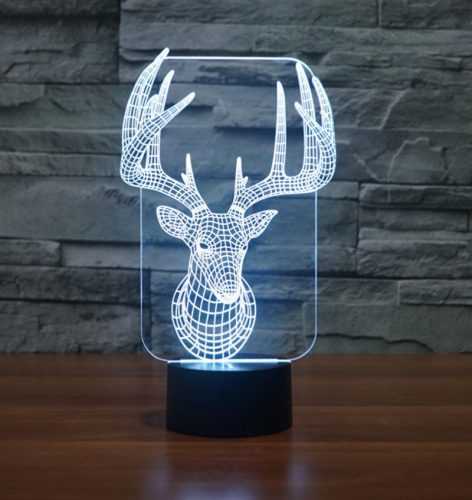 Reindeer 3d led lamp 5