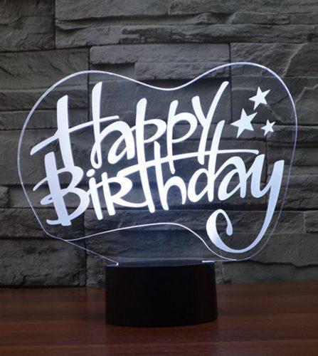Happy Birthday 3d led lamp 6