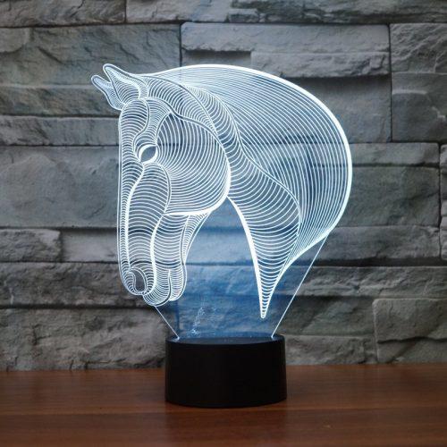 Horse 3d led lamp 5