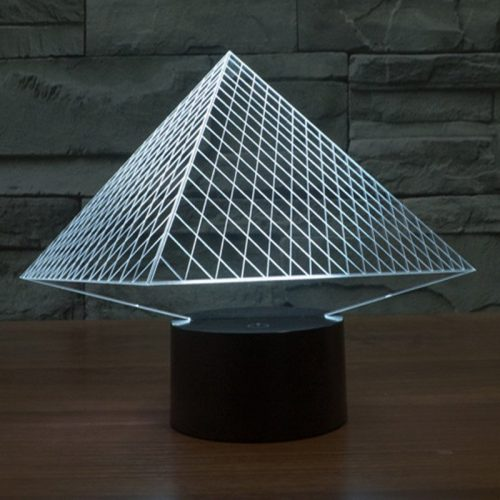 Pyramid 3d led lamp 5
