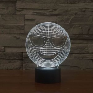 White Smile 3d led lamp