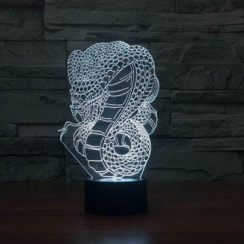 Snake 3d led lamp 5
