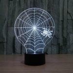 Spider Web 3d led lamp 5