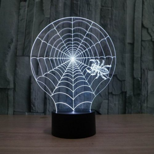 Spider Web 3d led lamp 5