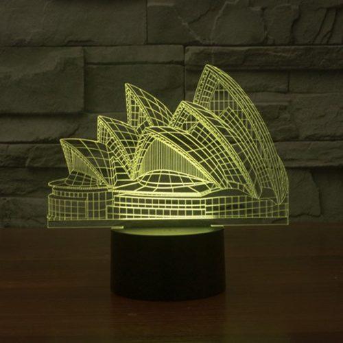 Sydney Opera House 3d led lamp 6