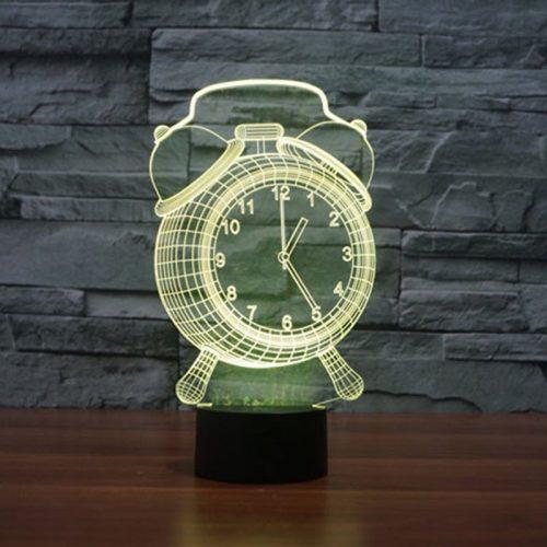 Yellow Alarm Clock 3d led lamp