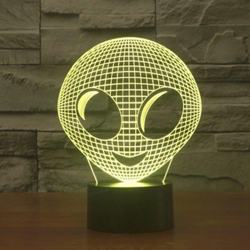 Cute Alien 3d led lamp 6