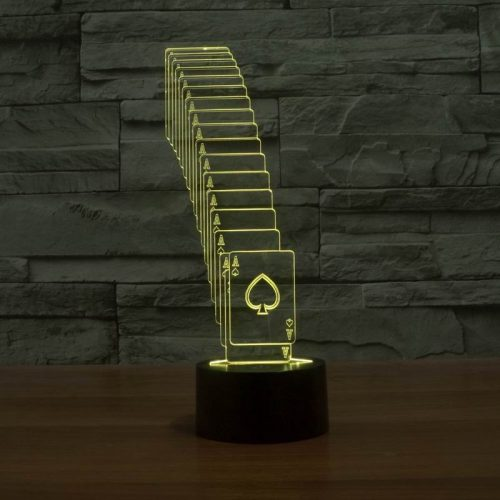 Yellow Cards 3d led lamp