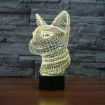 Cat 3d led lamp 6