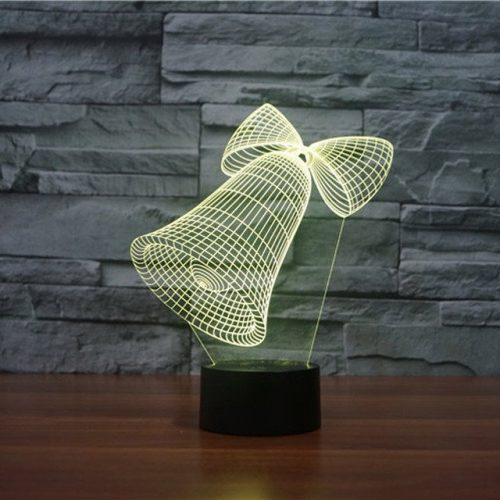 Jingle Bells 3d led lamp 6