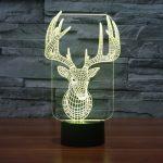 Reindeer 3d led lamp 6