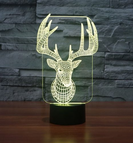 Reindeer 3d led lamp 6