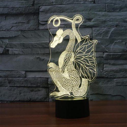 Dragon 3d led lamp 6
