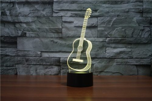 Guitar 3d led lamp 7
