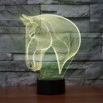 Horse 3d led lamp 6