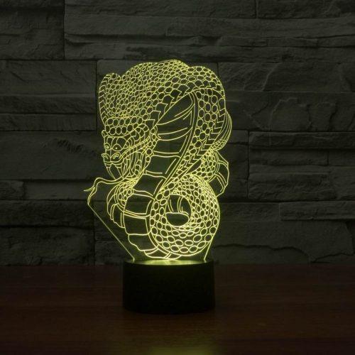 Snake 3d led lamp 6