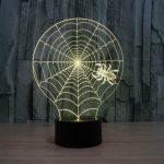 Spider Web 3d led lamp 6