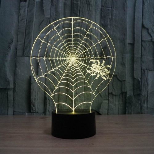 Spider Web 3d led lamp 6
