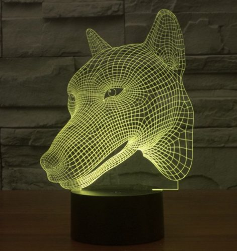 Wolf 3d led lamp 6