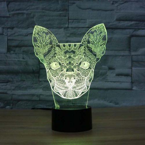 chihuahua 3d led night light