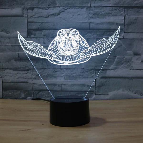 swimming sea turtle 3d led light