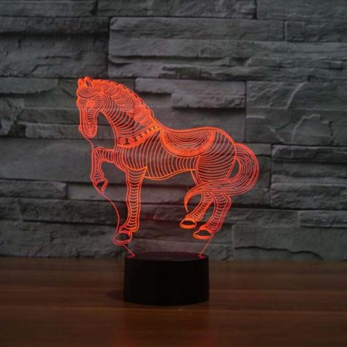 running horse 3d led light