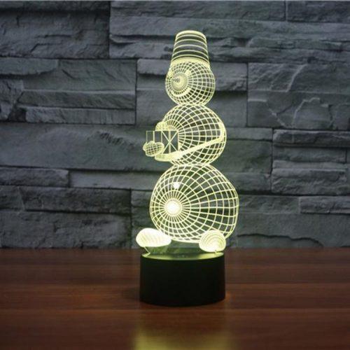 3d snowman led lamp