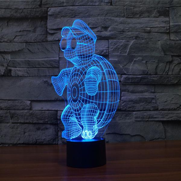 3d led turtle light