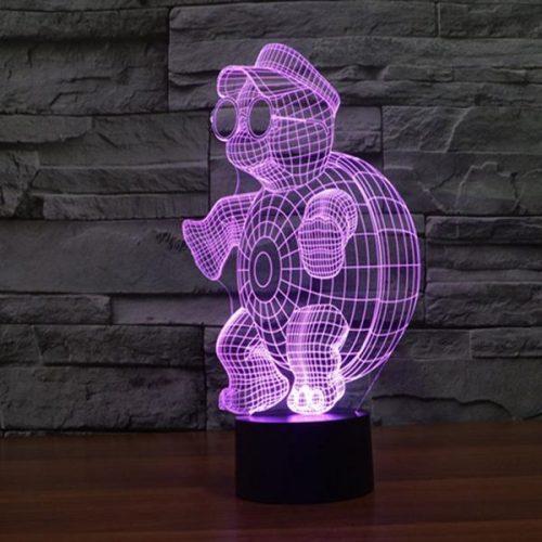 3d led turtle light