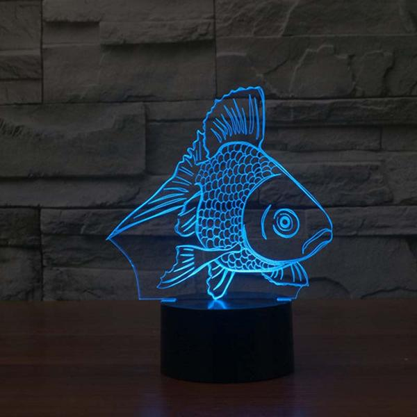 goldfish 3d led night light