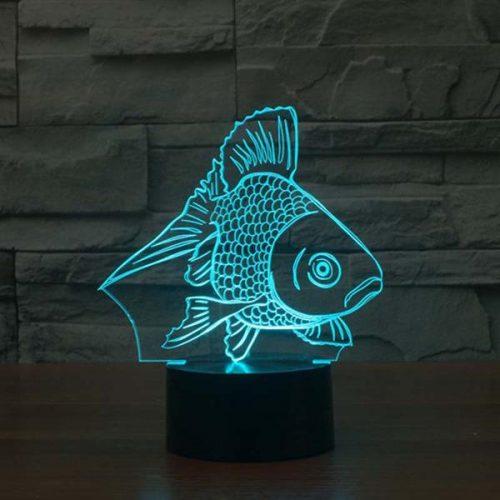 goldfish 3d led night light