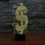 dollar sign 3d led night light