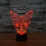 cat 3d led night light