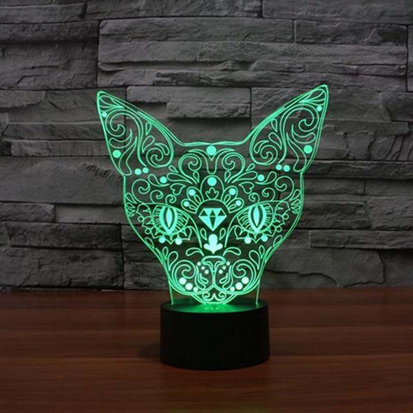 cat 3d led night light