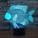 3d fish night light