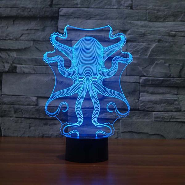 octopus 3d led light
