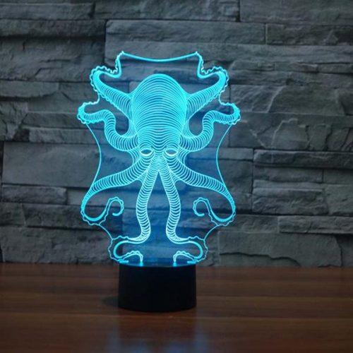 octopus 3d led light