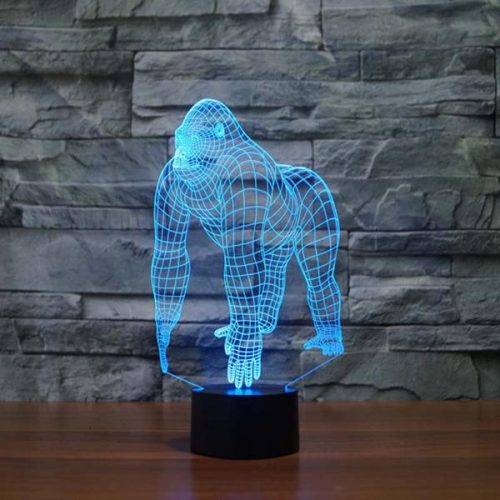 gorilla 3d led lamp
